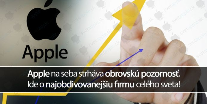 Apple na seba strháva obrovskú pozornosť. Ide o najobdivovanejšiu firmu celého sveta!