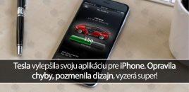 Tesla vylepšila svoju aplikáciu pre iPhone. Opravila chyby, pozmenila dizajn, vyzerá super!