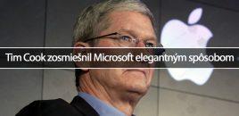 Tim Cook zosmiešnil Microsoft elegantným spôsobom
