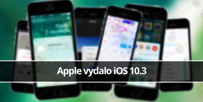 Apple vydalo iOS 10.3