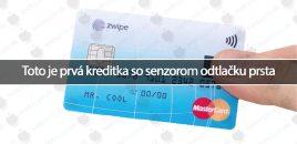 Toto je prvá kreditka so senzorom odtlačku prsta