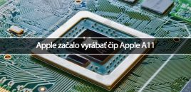 Apple začalo vyrábať čip Apple A11