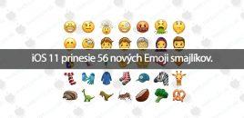 iOS 11 prinesie 56 nových Emoji smajlíkov.