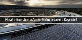 Nové informácie o Apple Parku priamo z Keynote!