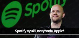 Spotify využil nevýhodu Apple!
