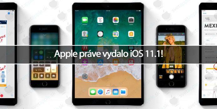 Apple práve vydalo iOS 11.1!