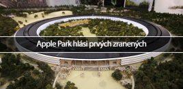 Apple Park hlási prvých zranených