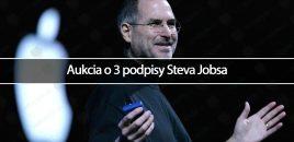 Aukcia o 3 podpisy Steva Jobsa