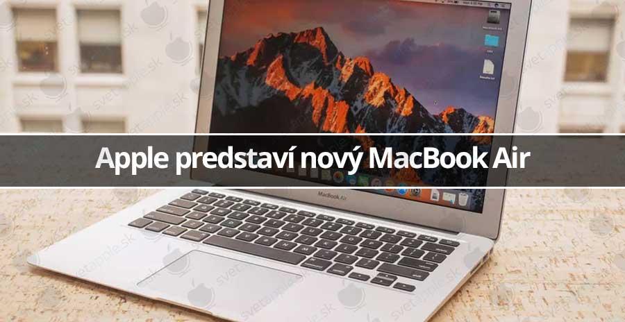 Apple predstaví nový MacBook Air