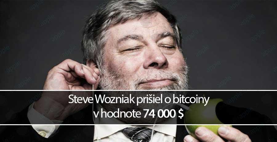 Steve Wozniak prišiel o bitcoiny v hodnote 74 000 $