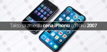 Takto sa zmenila cena iPhonu od roku 2007