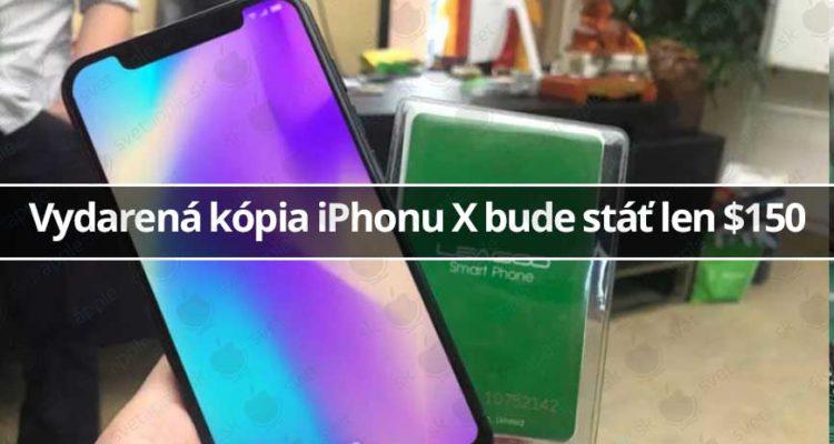 Vydarená kópia iPhonu X bude stáť len 150 $