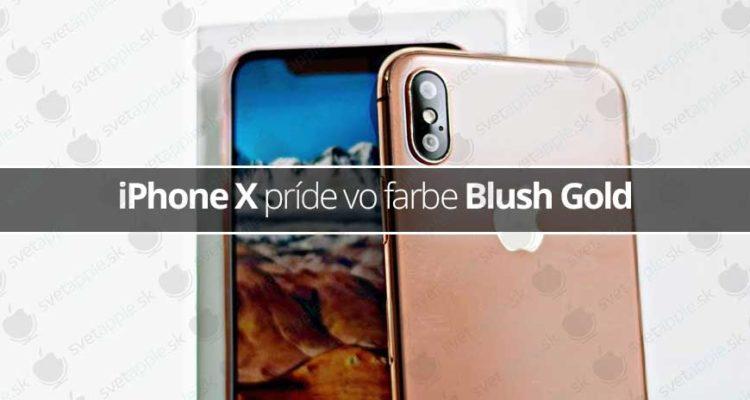 iPhone X príde vo farbe Blush Gold
