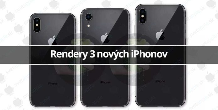 Rendery 3 nových iPhonov