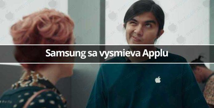 Samsung sa vysmieva Applu
