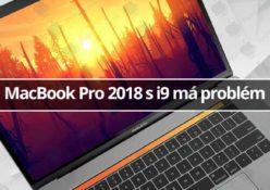 MacBook Pro 2018 s i9 má problém