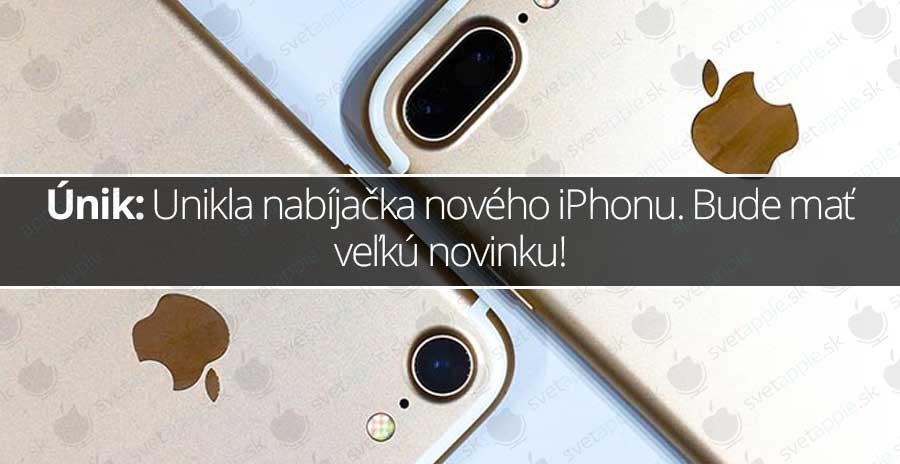 Únik: Unikla nabíjačka nového iPhonu. Bude mať veľkú novinku! - svetapple.sk