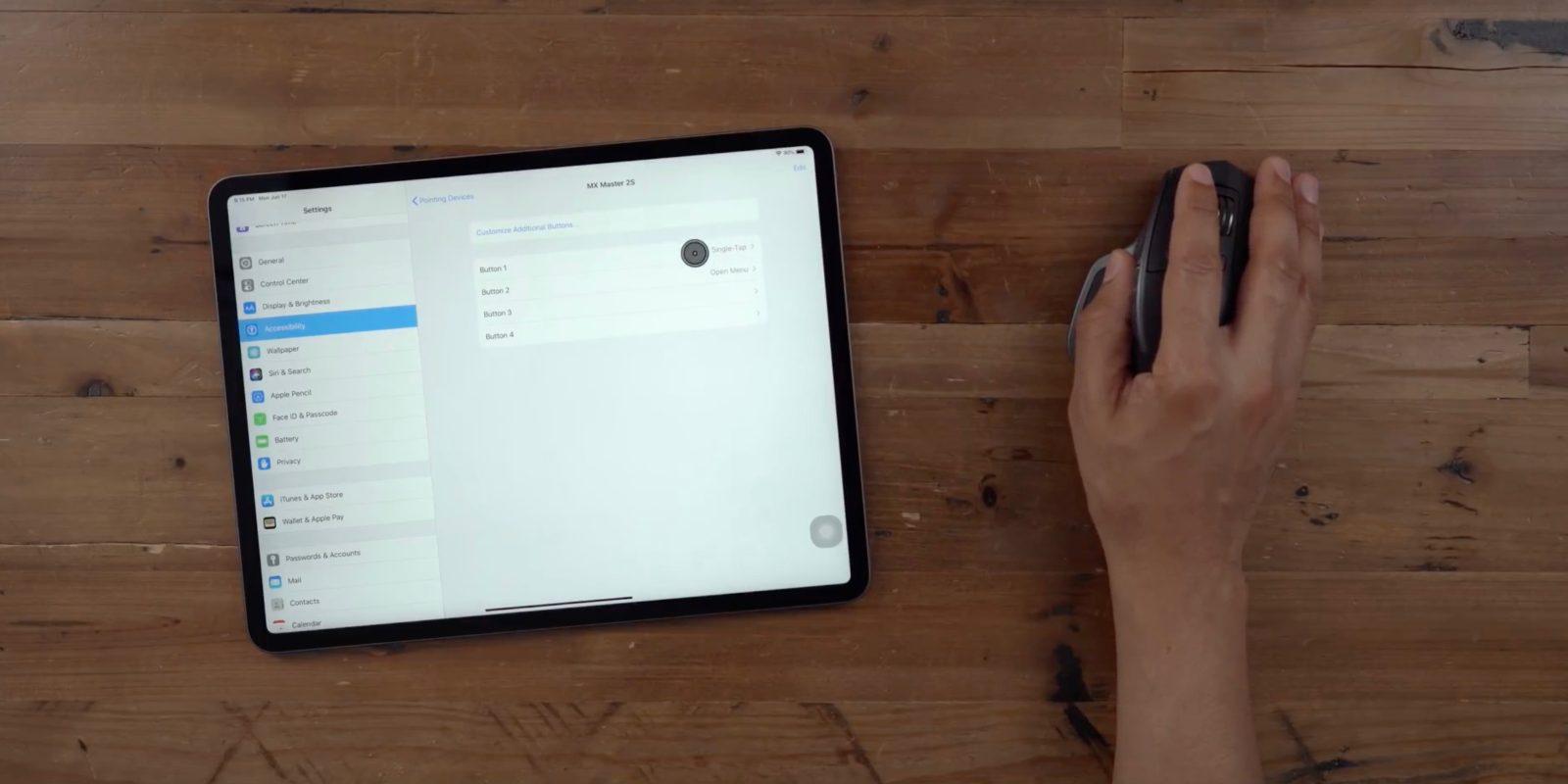 môžete pripojiť myš k iPadu mini