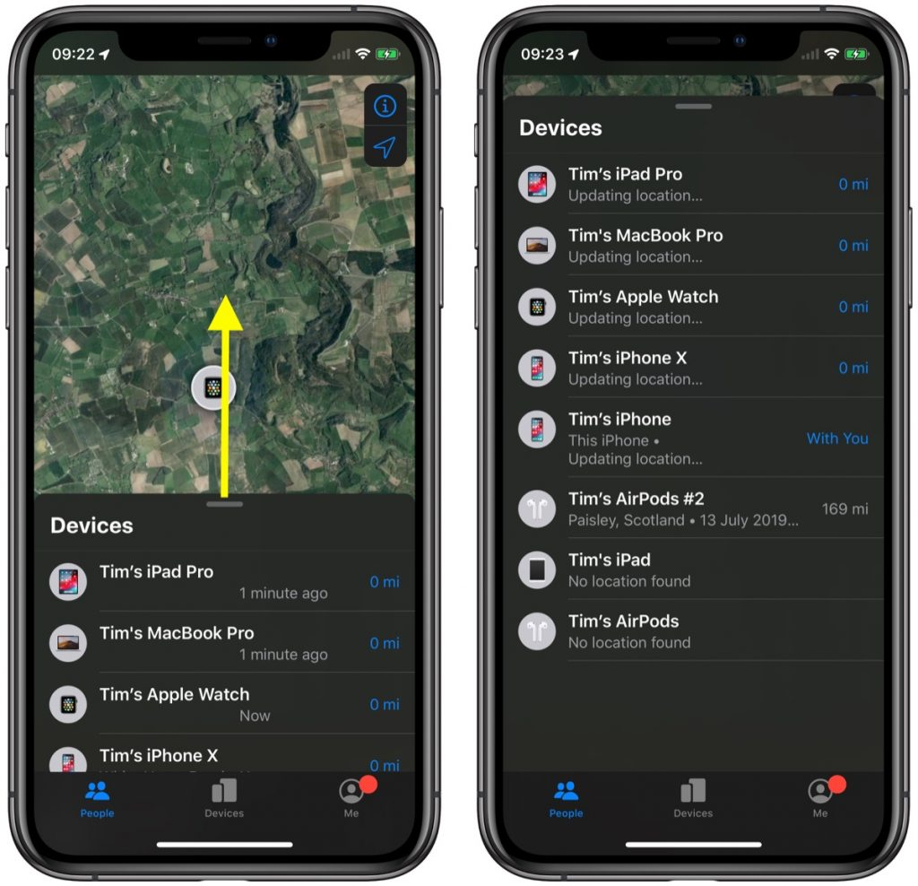 Návod - Ako používať aplikáciu novú Nájsť v iOS 13? - svetapple.sk
