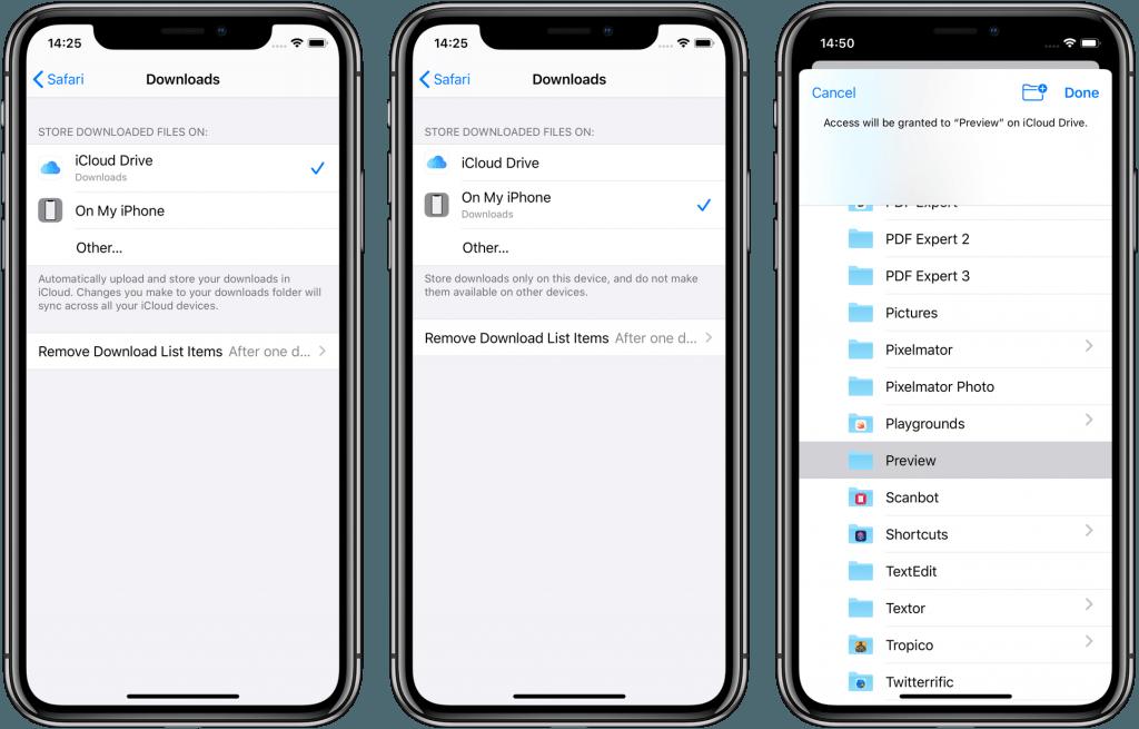 Návod - Nastavte si miesto pre uložené súbory zo Safari v iOS 13