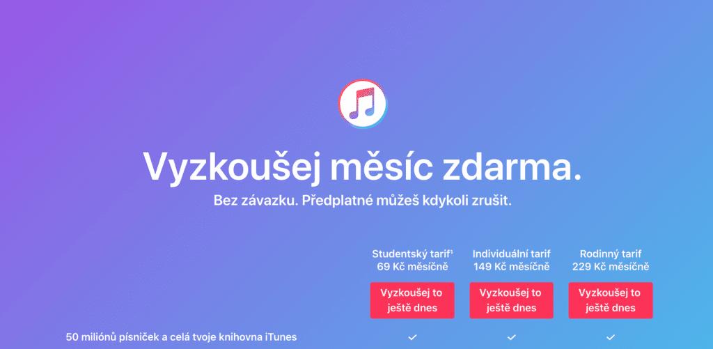 Apple Music už len na 1 mesiac zadarmo. Zabudnite na 3 mesiace tak ako doteraz.