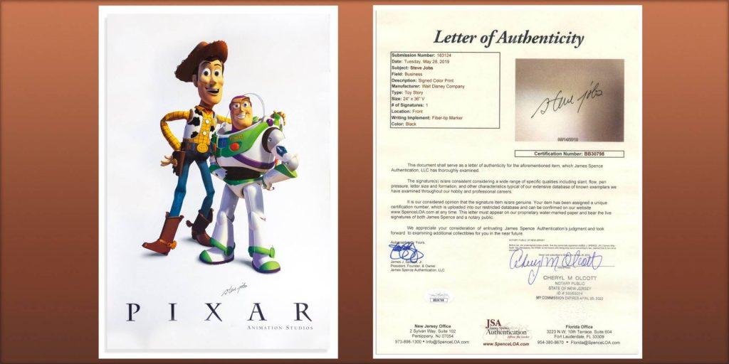 Vydražte si plagát ToyStory, ktorý podpísal sám Steve Jobs. - svetapple.sk