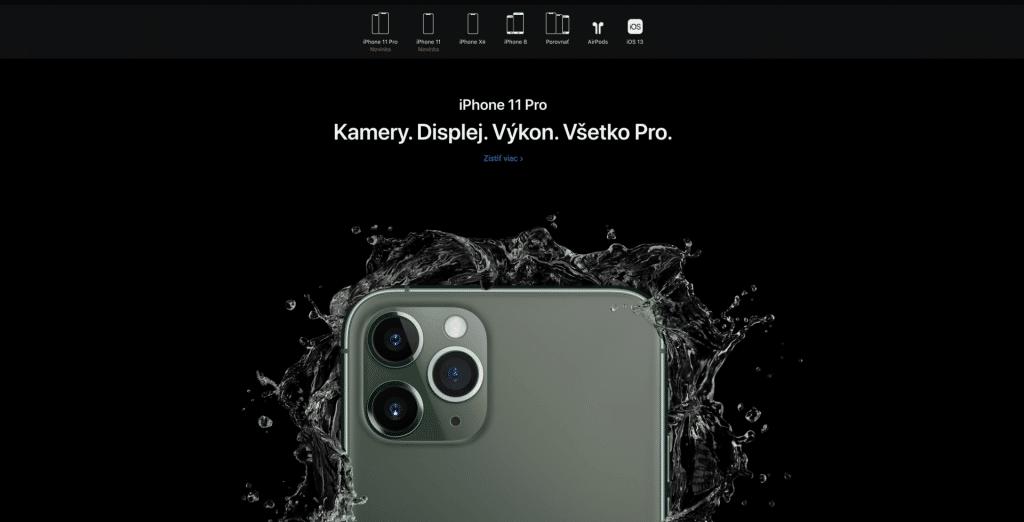 Apple sa na slovenskom webe spamätalo. iPhone 11/11 Pro už oficiálne existuje aj u nás!