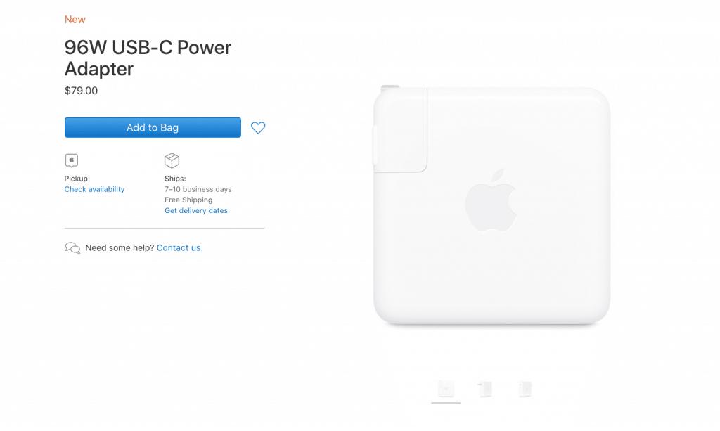 96W nabíjací USB-C adaptér môžete po novom kúpiť aj samostatne.