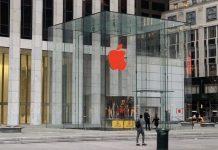apple červené logo