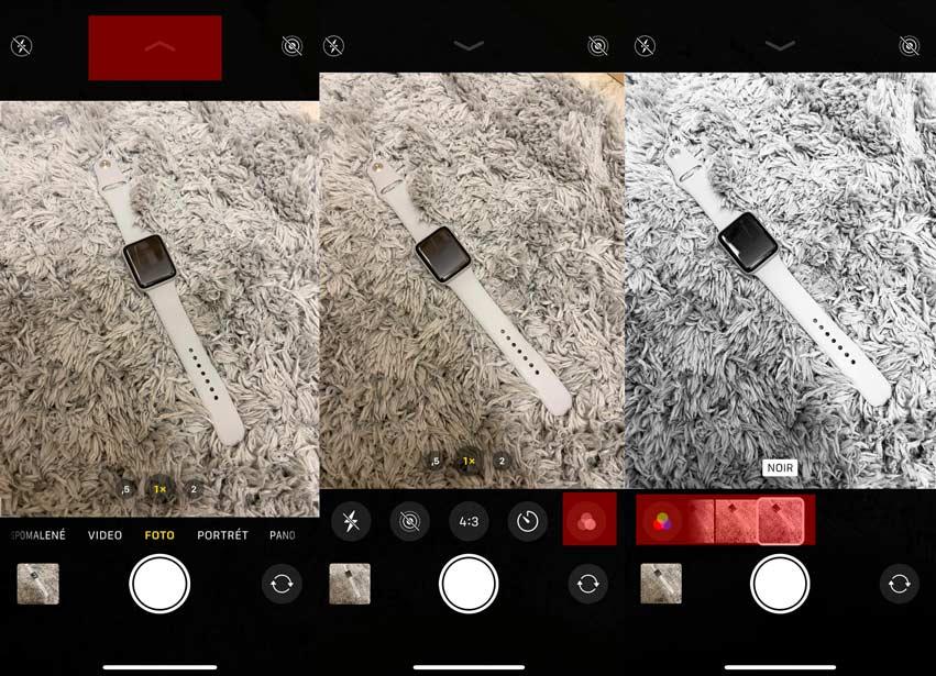 Ako zmeniť filter na iPhone?
