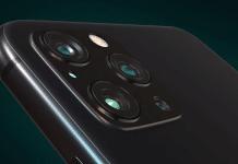 Koncept iPhone 12 Pro bez výrezu na displeji a so štyrmi šošovkami na zadnej strane.