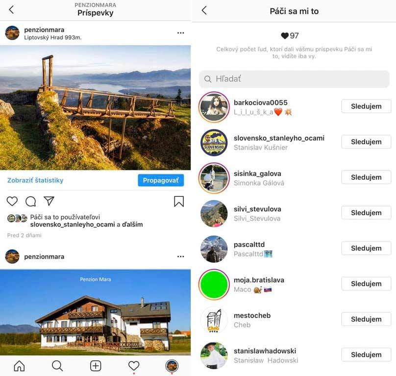 Slovenský Instagram bez lajkov