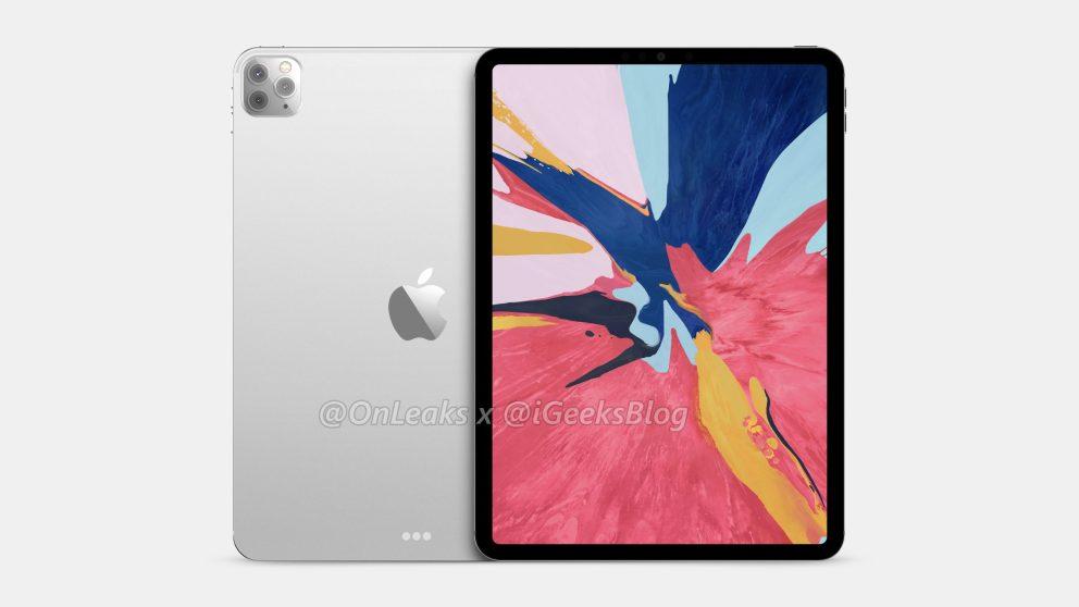 Takto bude vyzerať iPad Pro 2020. Budú tu 3 fotoaparáty.
