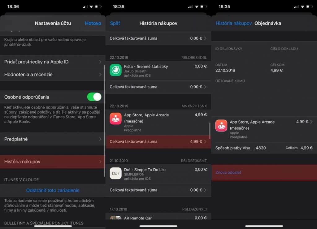 App Store má pravdepodobne problém s odosielaním e-mailov...