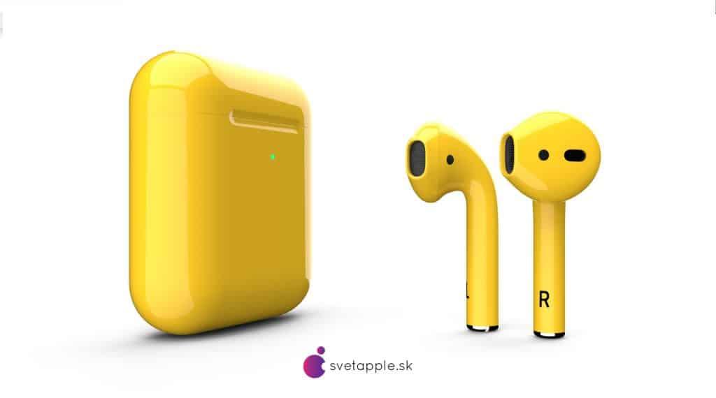 airpods žlté