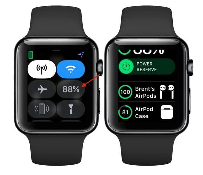apple watch stav batérie airpods