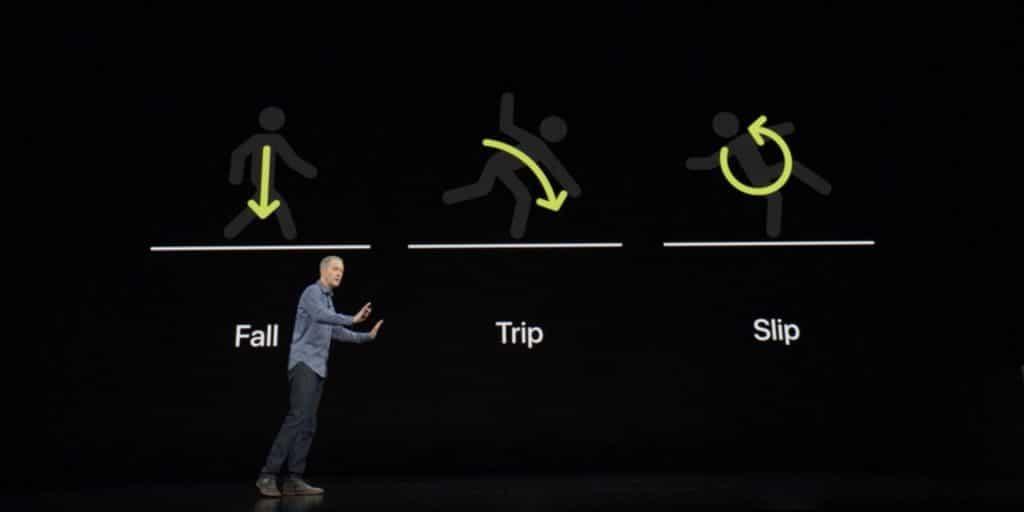 Apple Watch detekcia pádu