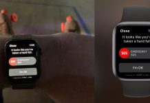 Apple Watch detekcia pádu