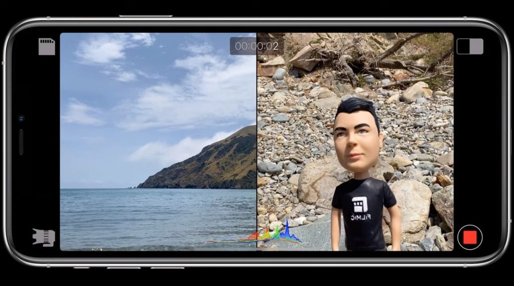 Pomocou tejto aplikácie môžete natáčať na 2 objektívy zároveň!