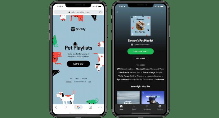 Spotify vytvorilo zoznam skladieb pre domácich miláčikov.