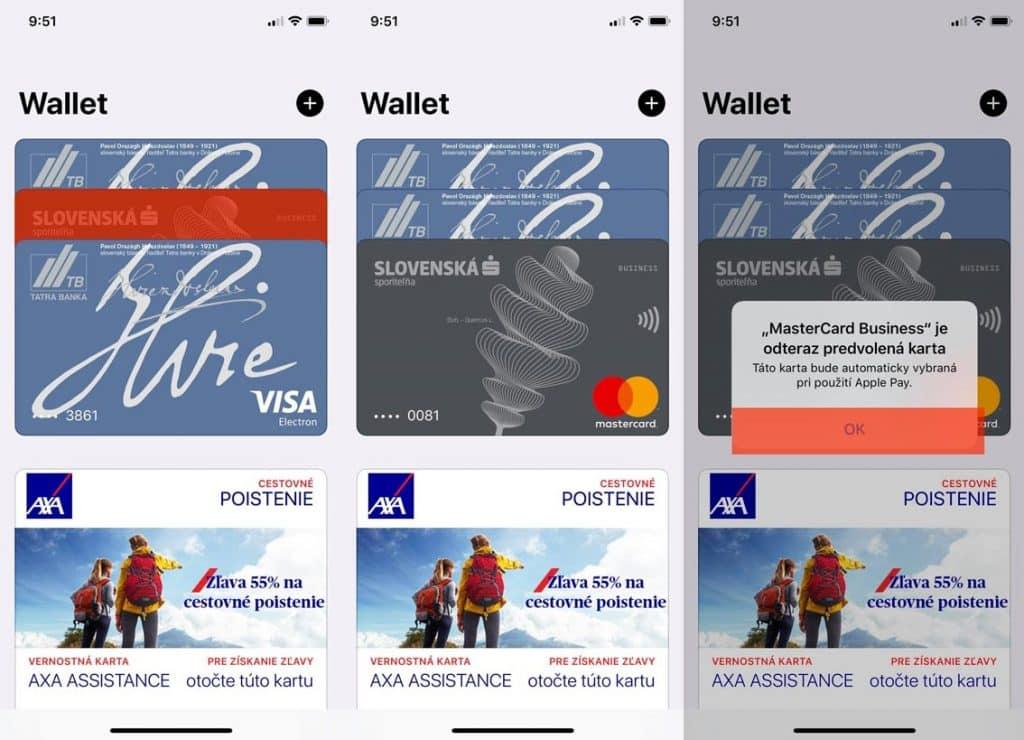 Návod: Ako si na Apple Pay nastaviť primárnu kartu.