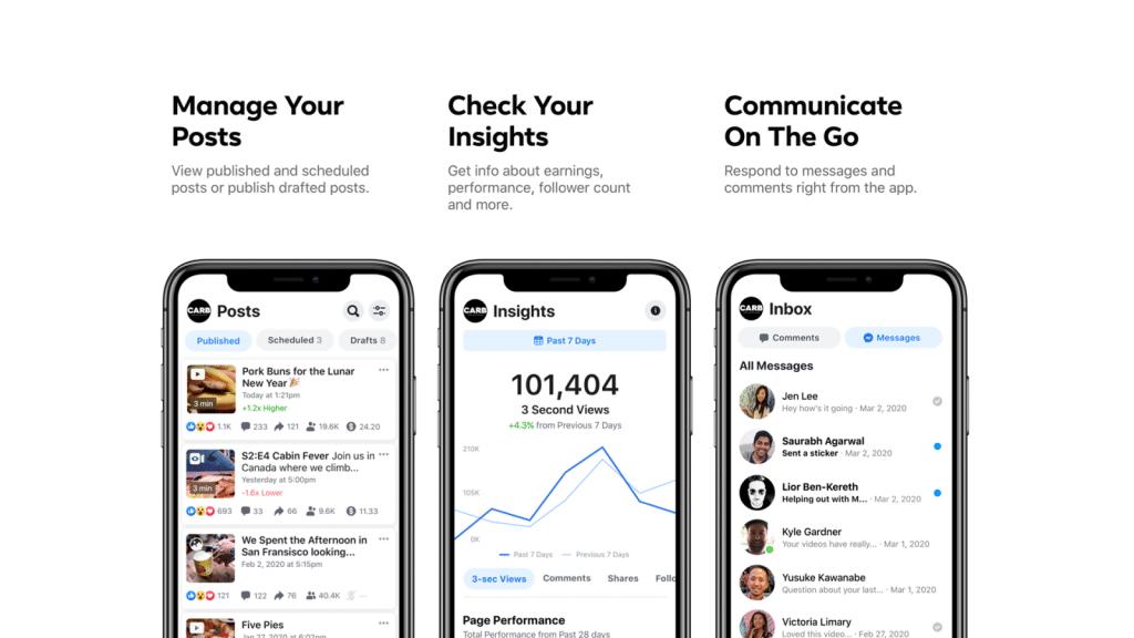 Facebook Creator Studio je dostupné pre iOS a Android zariadenia.