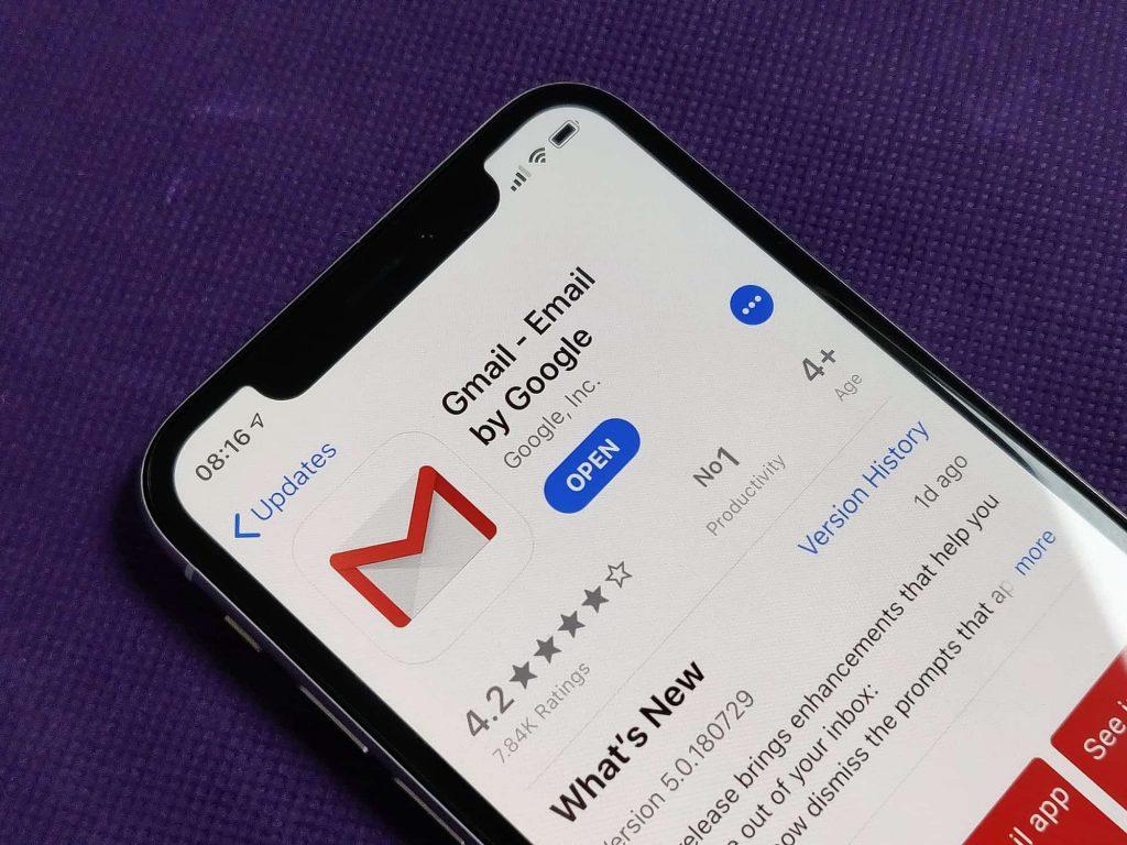 Gmail príde na iOS s dôležitou aktualizáciou, ktorá pridá chýbajúcu funkciu.