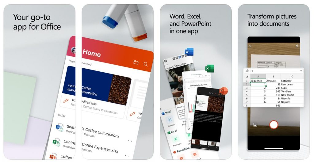 Microsoft práve vydal Office pre iPhone. Obsahuje Word, Excel a PowerPoint.