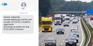 SMS ohľadom konca platnosti diaľničnej známky chodia aj v noci.