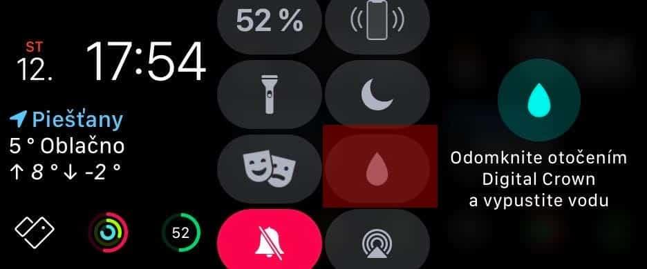 Návod: Ako odstrániť vodu z Apple Watch?