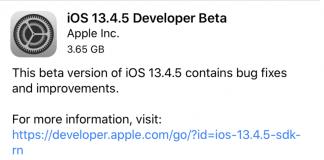 Apple vydalo iOS 13.4.5 pre vývojárov. Bolo rýchlejšie, ako sme očakávali.