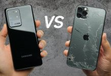 Drop Test: Samsung Galaxy S20 Ultra vs. iPhone 11 Pro Max.