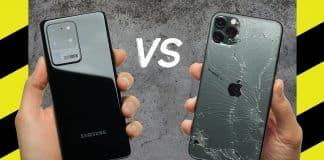 Drop Test: Samsung Galaxy S20 Ultra vs. iPhone 11 Pro Max.