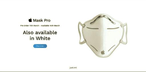 Takto by to vyzeralo, keby Apple vyrábalo rúška proti koronavírusu.